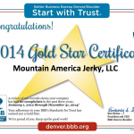 MAJ BBB Gold Star Award