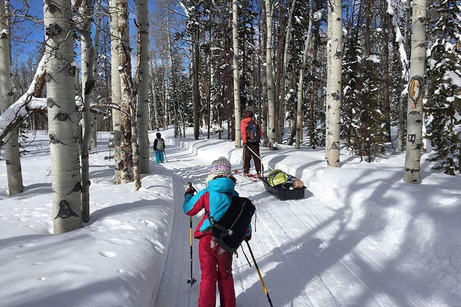 skiing-yurt-camping
