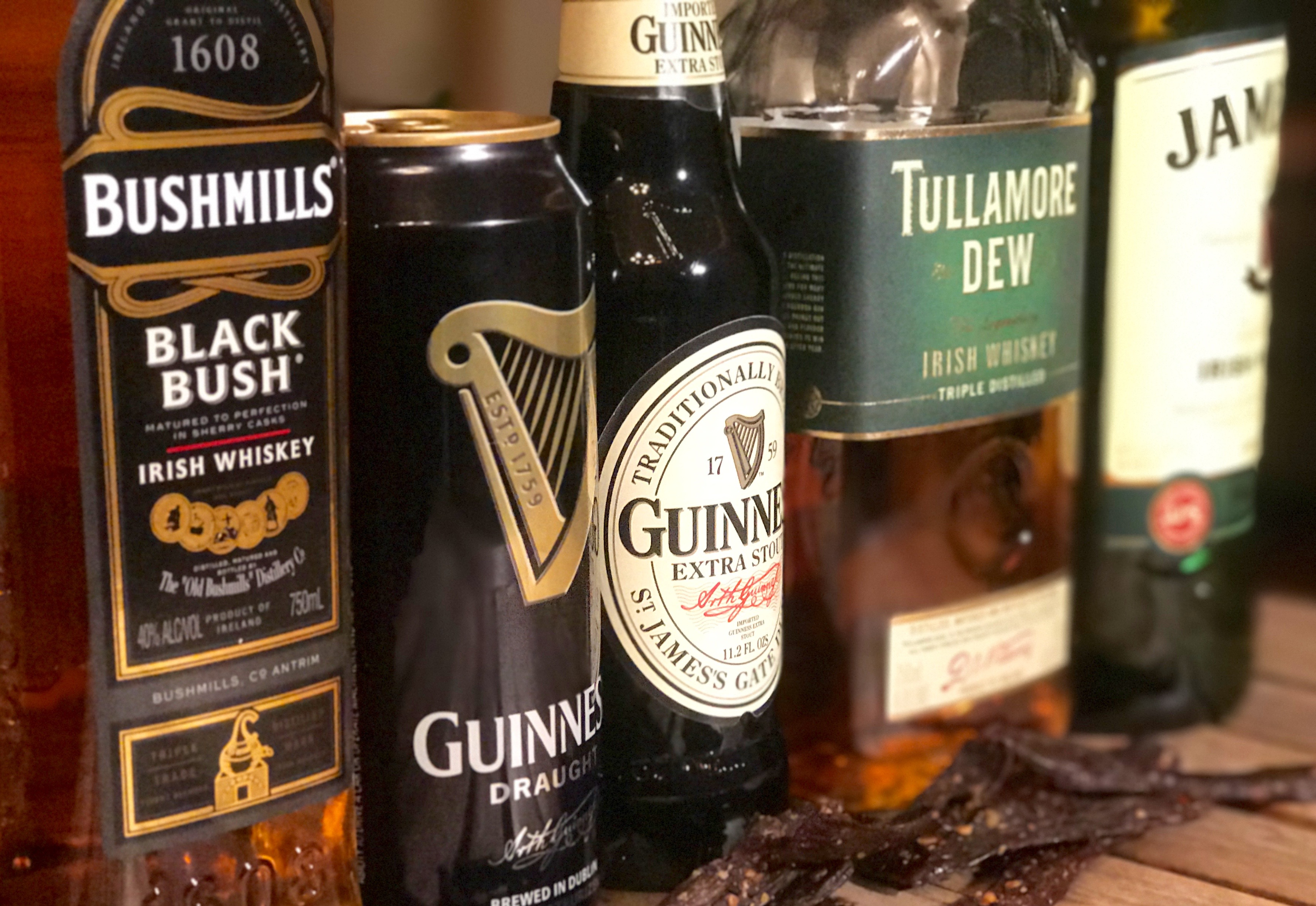 whiskey-beer-jerky-pairing-st. patrick's day