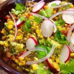 Beef Jerky Avocado Salad